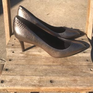 Rockport Walkability Snakeprint Leather Heels 8.5